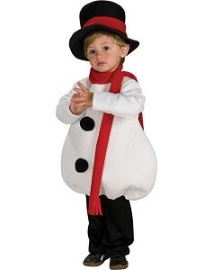 Костюм снеговика для ребенка.